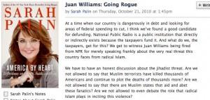 Palin on NPR